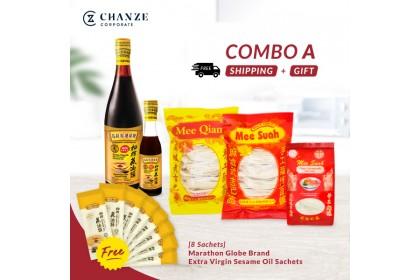 Combo A - Sesame Oil/Thick&Thin Mee Shua/Mee Qian [Free] 8 Sesame Oil Sachet